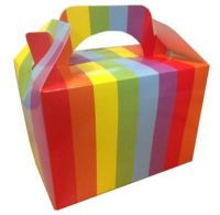 Rainbow Stripe Meal Party Box